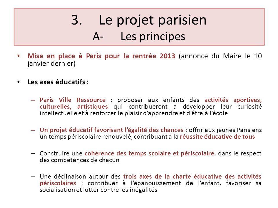 3. Le projet parisien A- Les principes