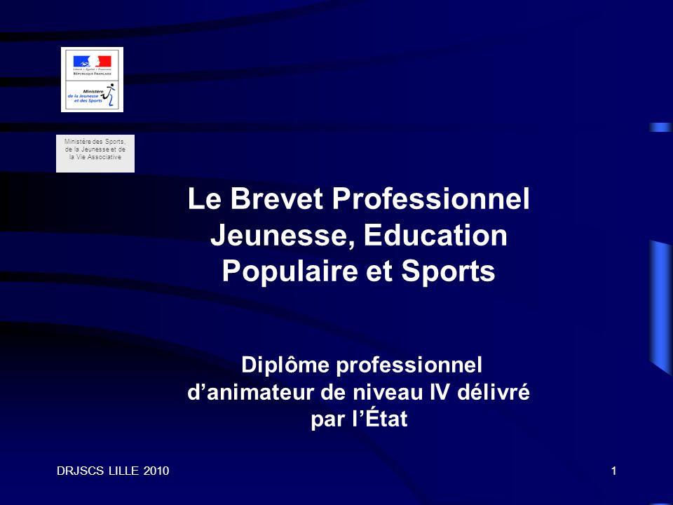 Le Brevet Professionnel Jeunesse, Education Populaire et Sports