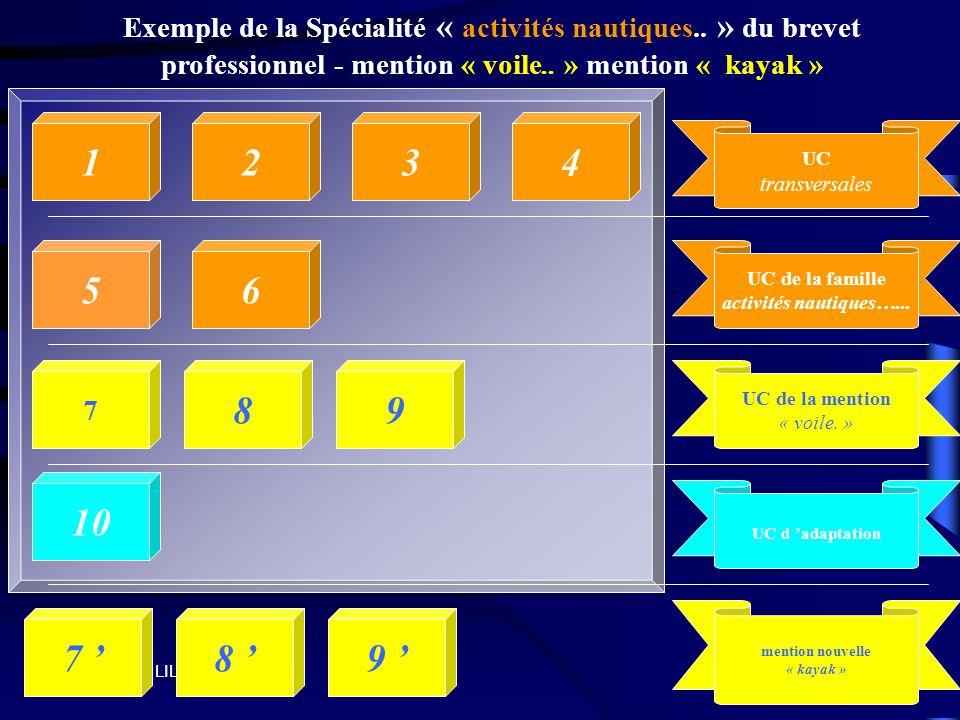 Exemple de la Spécialité « activités nautiques
