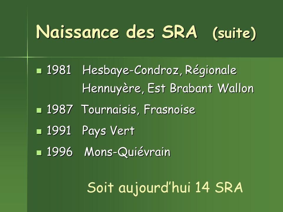 Naissance des SRA (suite)