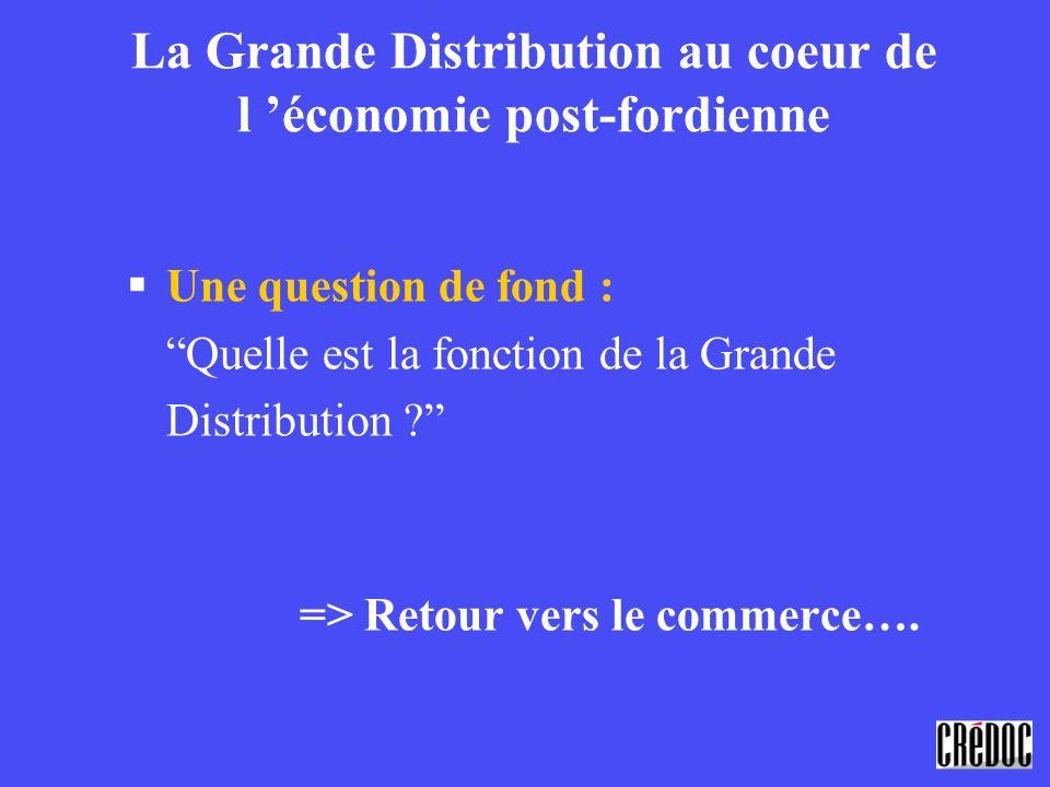 La Grande Distribution au coeur de l 'économie post-fordienne
