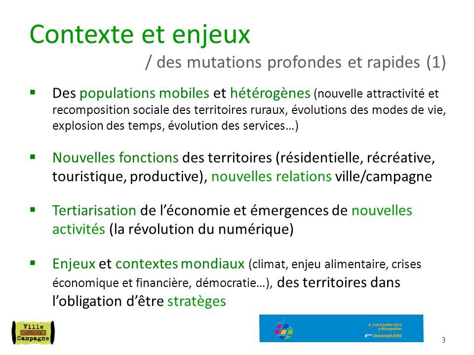 Contexte et enjeux / des mutations profondes et rapides (1)