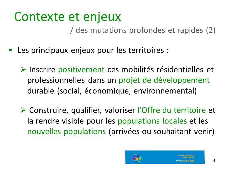 Contexte et enjeux / des mutations profondes et rapides (2)