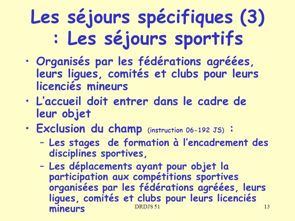 Les séjours spécifiques (3) : Les séjours sportifs