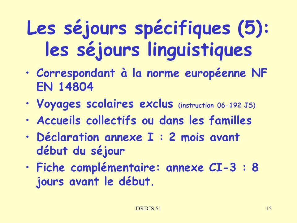 Les séjours spécifiques (5): les séjours linguistiques