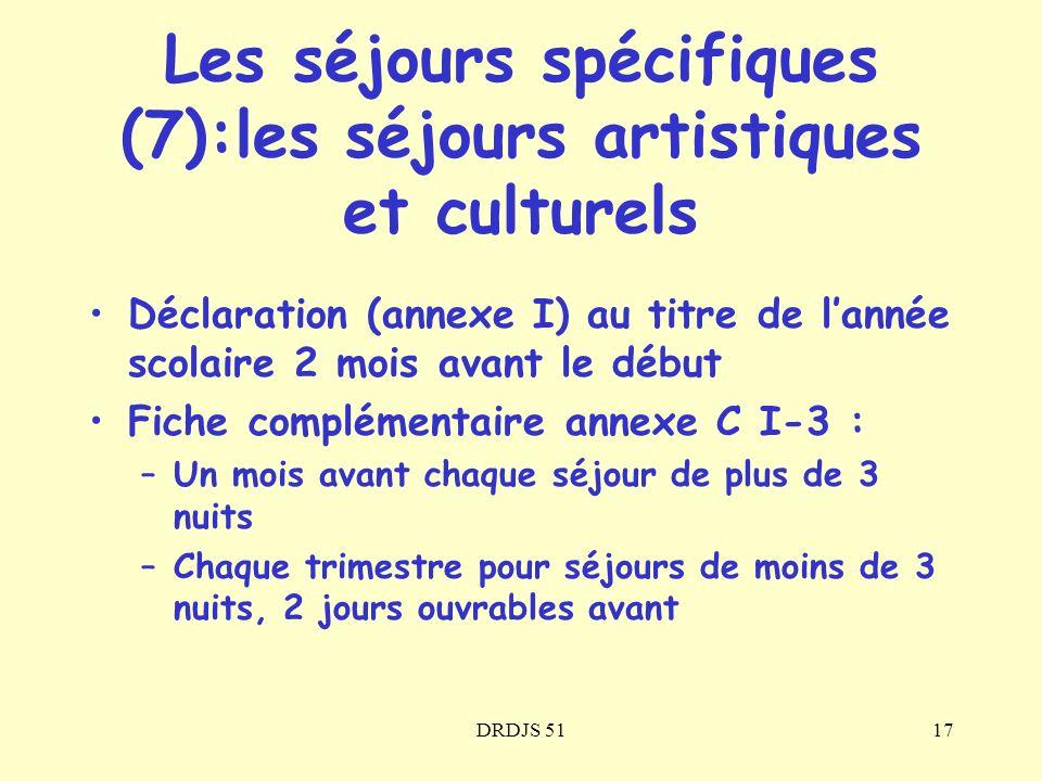 Les séjours spécifiques (7):les séjours artistiques et culturels