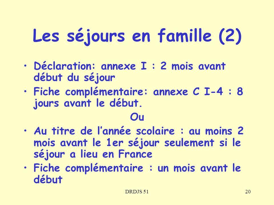 Les séjours en famille (2)