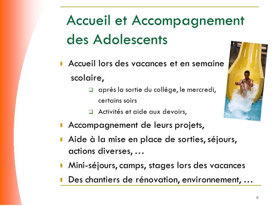 Accueil et Accompagnement des Adolescents