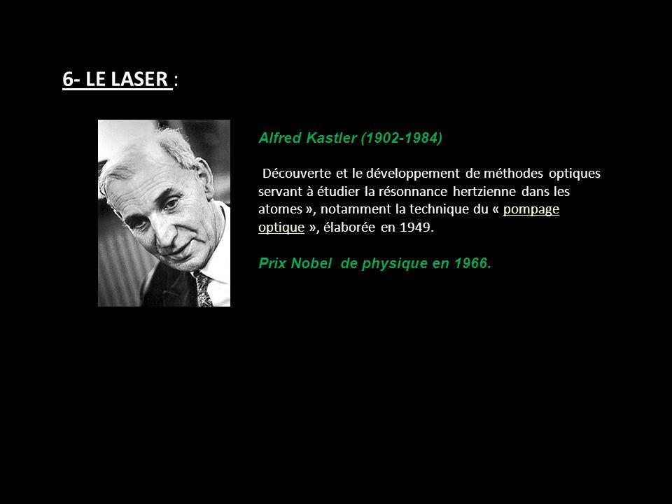 6- LE LASER : Alfred Kastler (1902-1984)