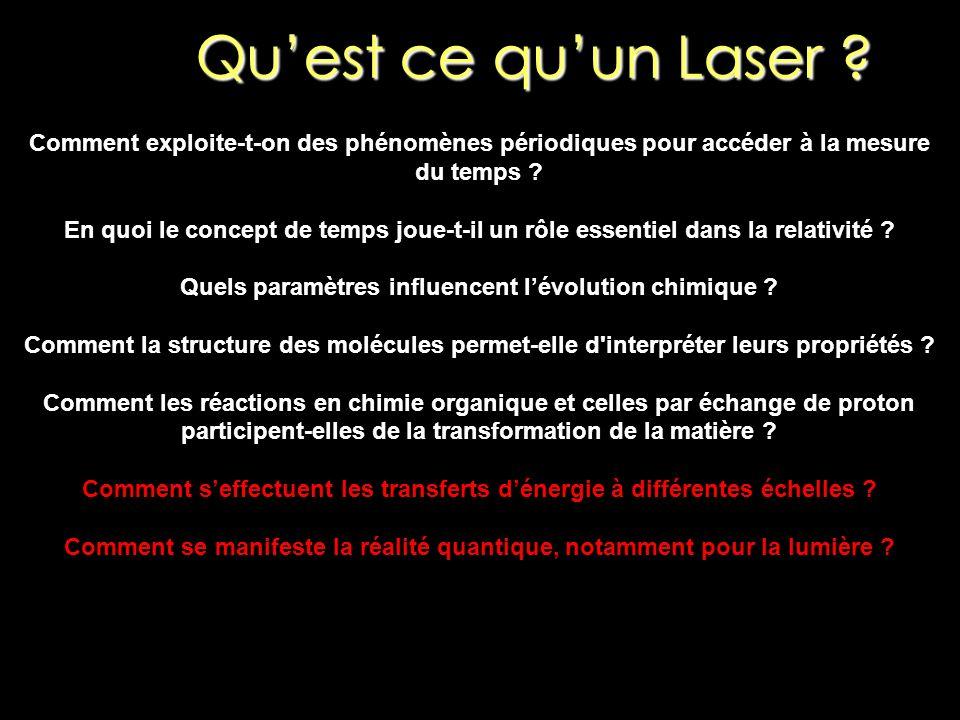 Qu'est ce qu'un Laser Comment exploite-t-on des phénomènes périodiques pour accéder à la mesure du temps