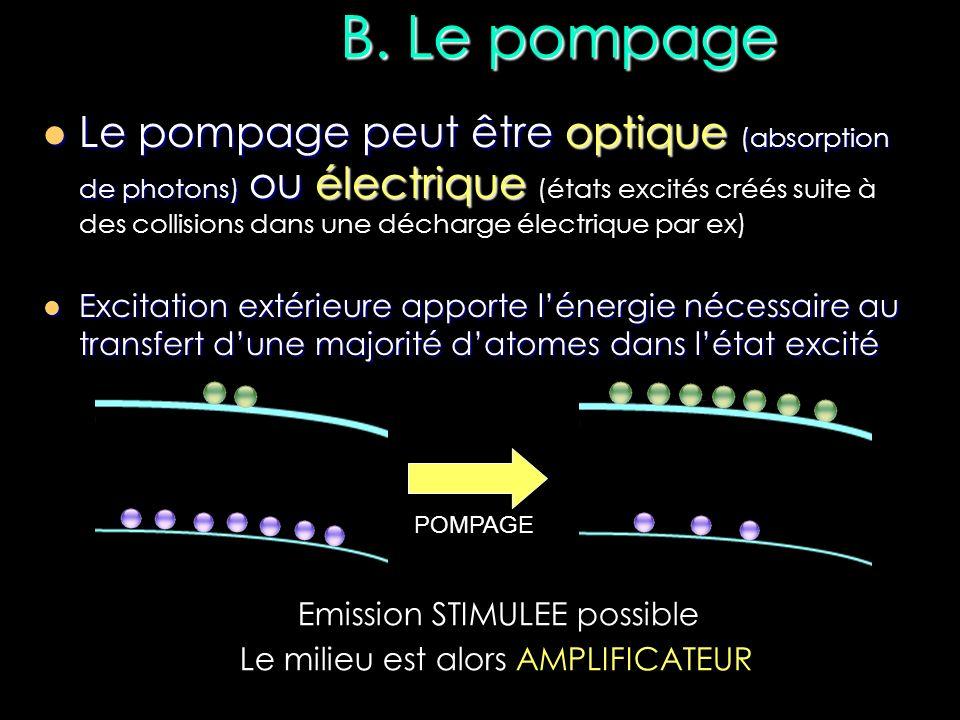 B. Le pompage
