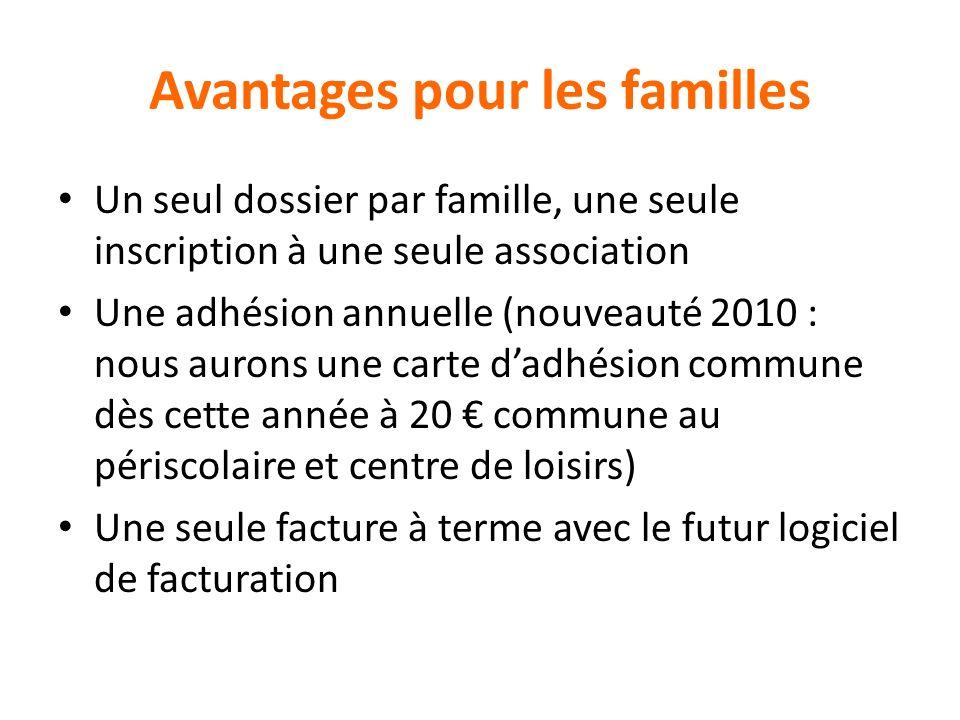 Avantages pour les familles