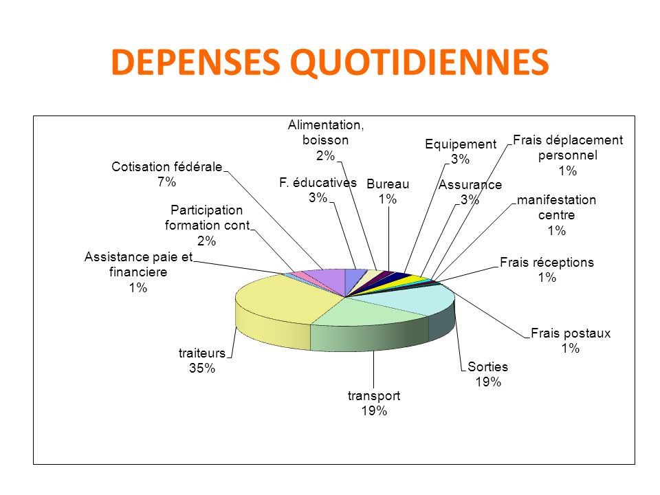DEPENSES QUOTIDIENNES