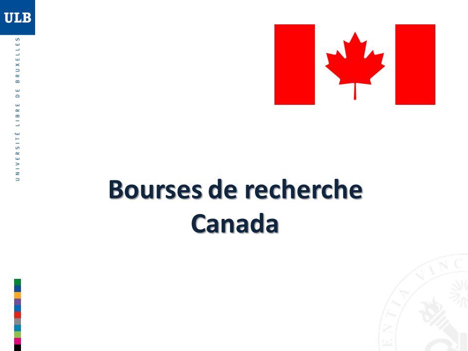 Bourses de recherche Canada