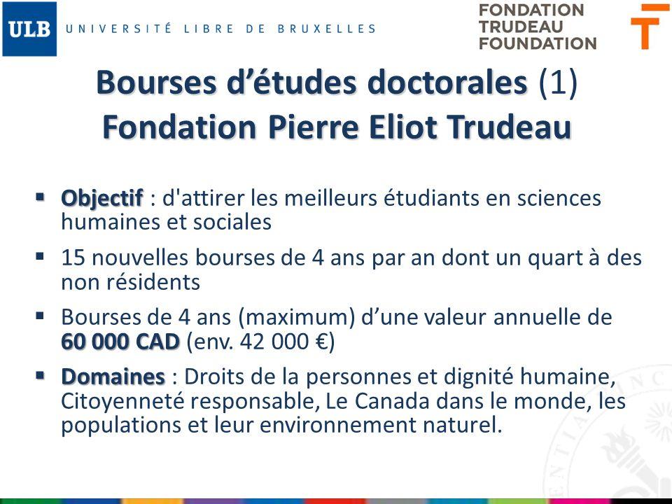 Bourses d'études doctorales (1) Fondation Pierre Eliot Trudeau