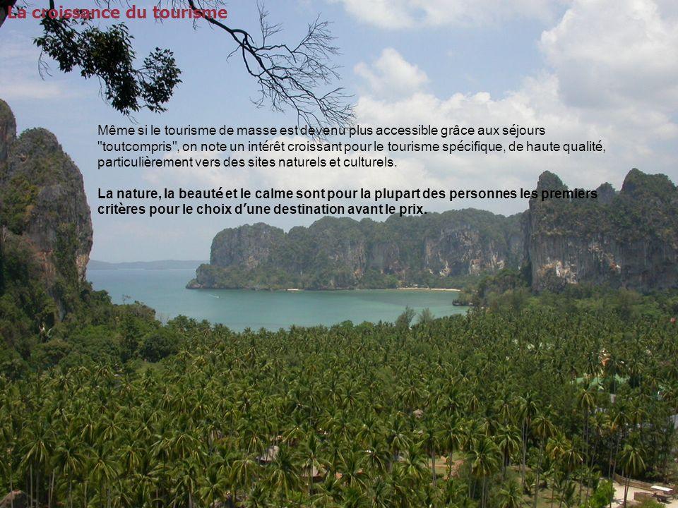 La croissance du tourisme