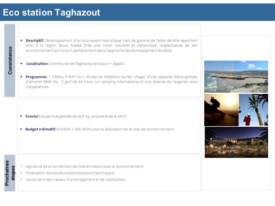 Eco station Taghazout Consistance Prochaines étapes 10