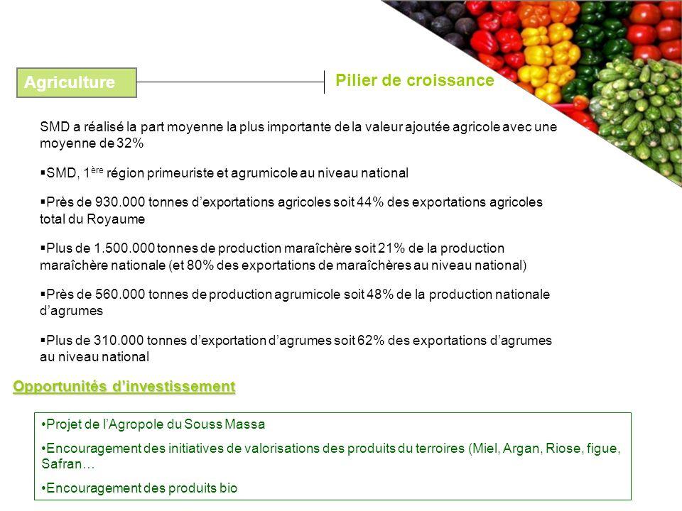 Pilier de croissance Agriculture Opportunités d'investissement