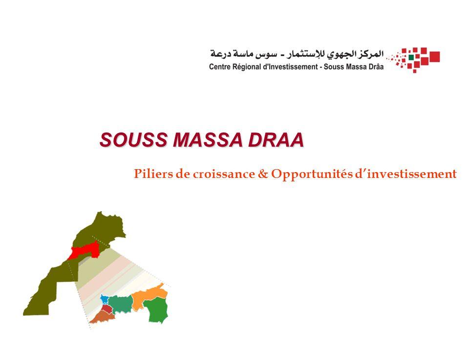 SOUSS MASSA DRAA Piliers de croissance & Opportunités d'investissement