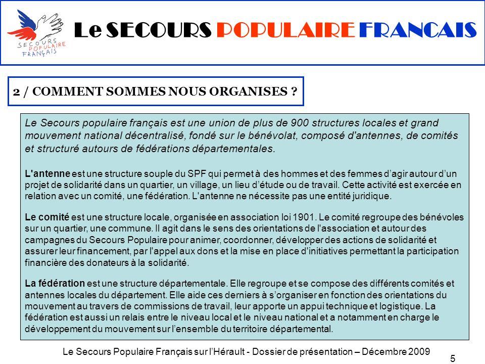Le SECOURS POPULAIRE FRANCAIS