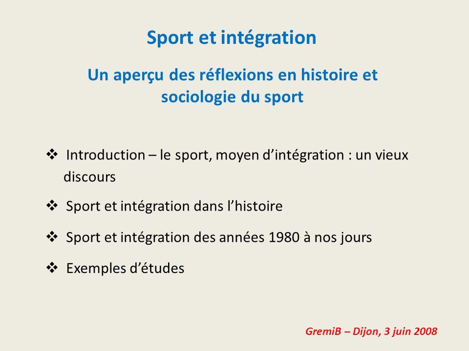 Un aperçu des réflexions en histoire et sociologie du sport