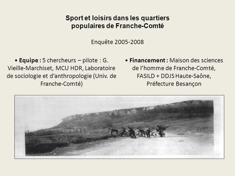 Sport et loisirs dans les quartiers populaires de Franche-Comté