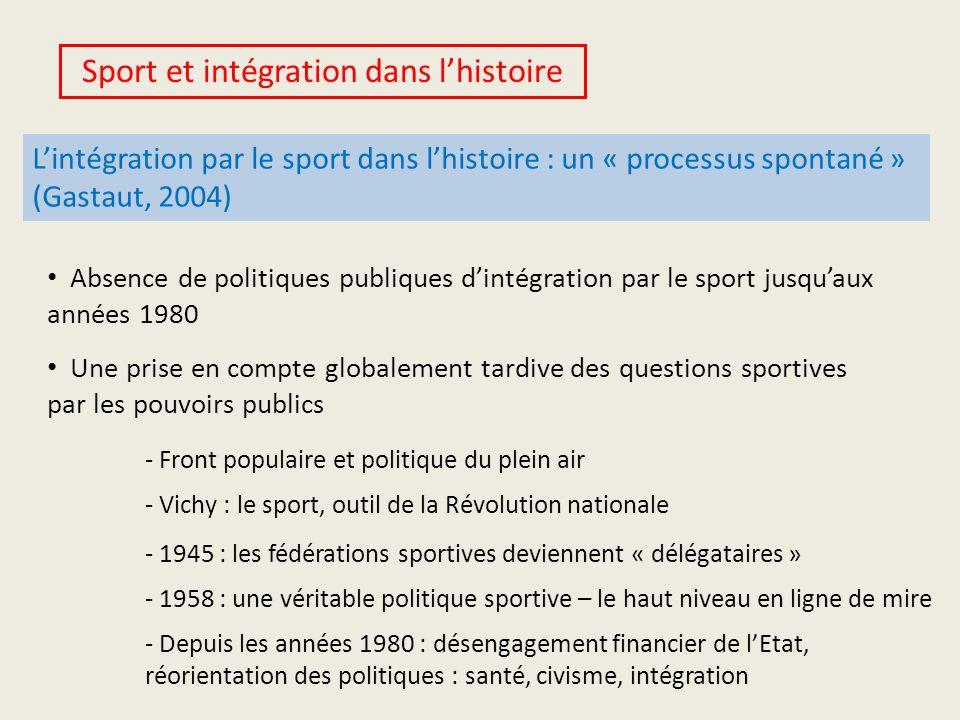 Sport et intégration dans l'histoire