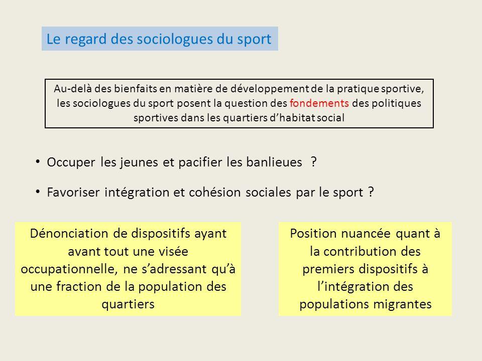 Le regard des sociologues du sport