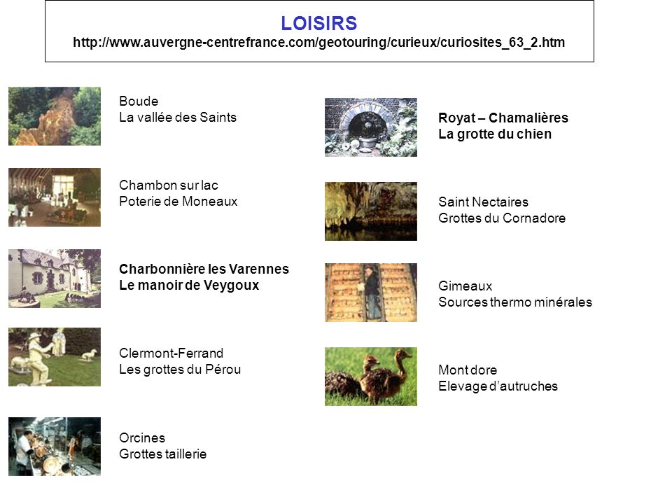 LOISIRS http://www. auvergne-centrefrance