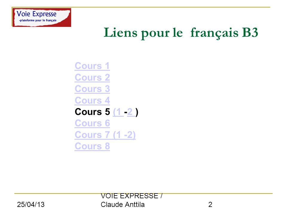 Liens pour le français B3