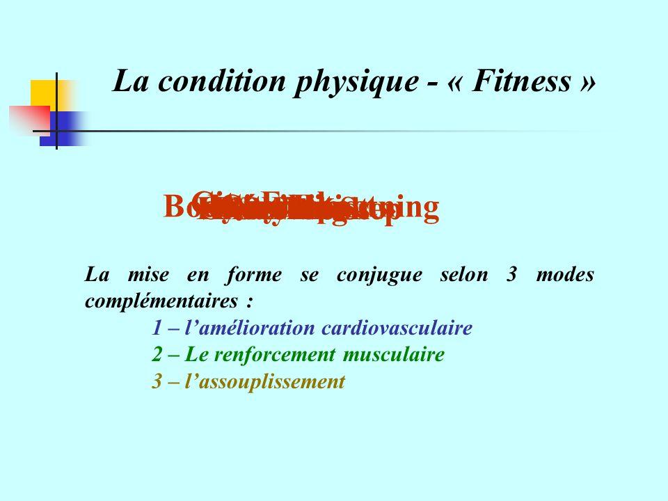 La condition physique - « Fitness »