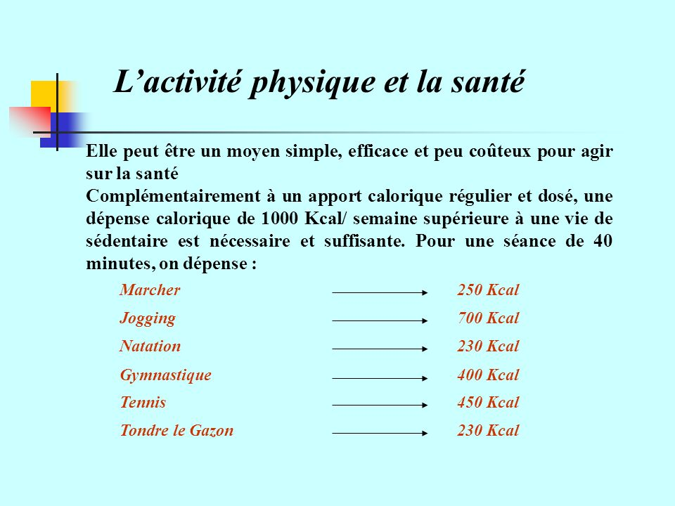 L'activité physique et la santé