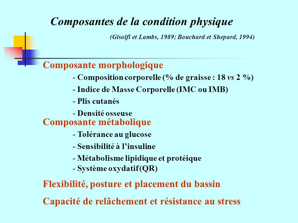 Composantes de la condition physique