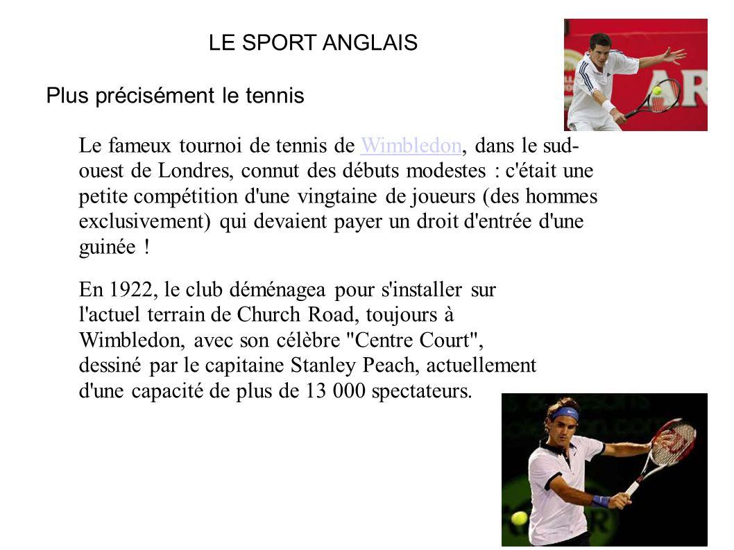 Plus précisément le tennis