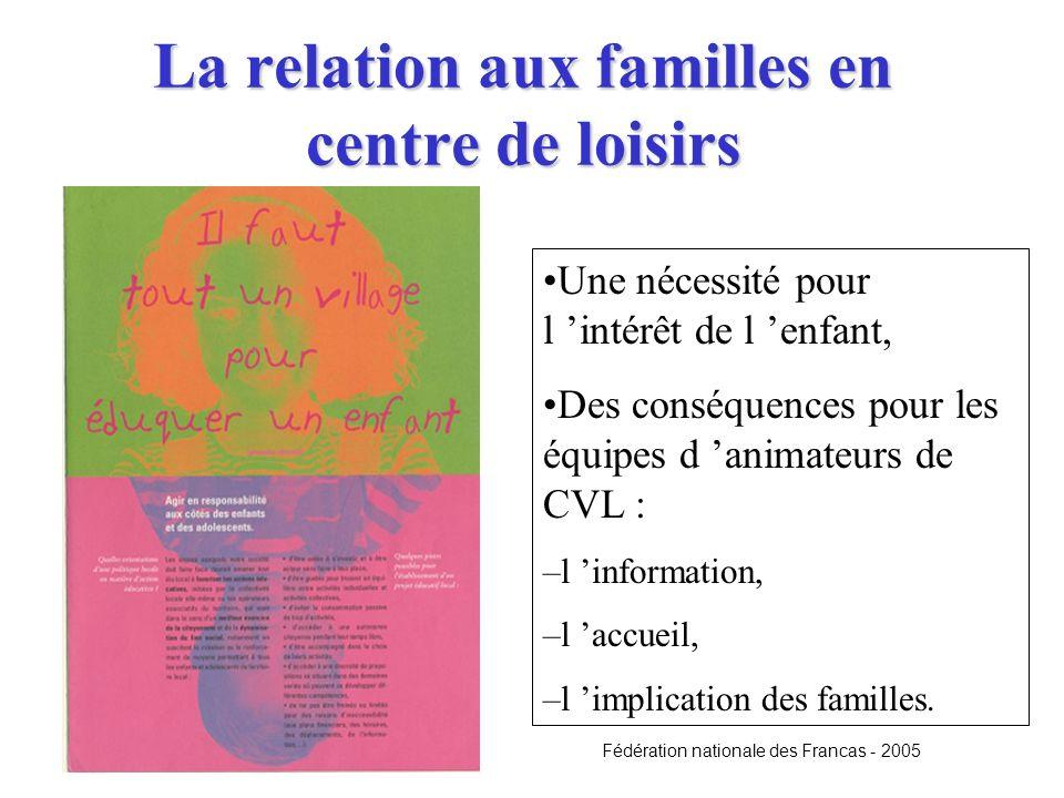 La relation aux familles en centre de loisirs
