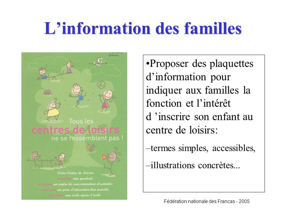 L'information des familles