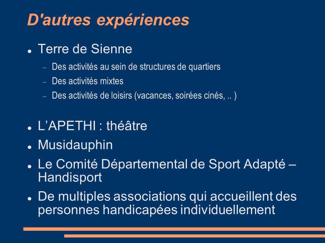 D autres expériences Terre de Sienne L'APETHI : théâtre Musidauphin
