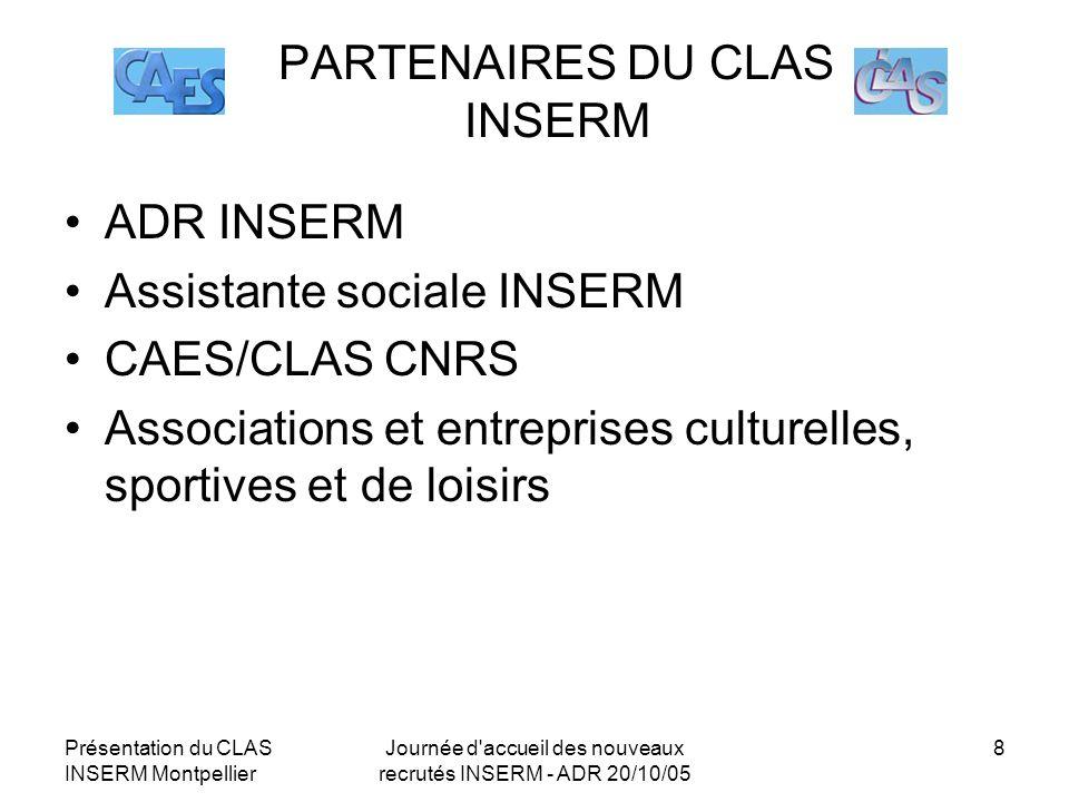 PARTENAIRES DU CLAS INSERM