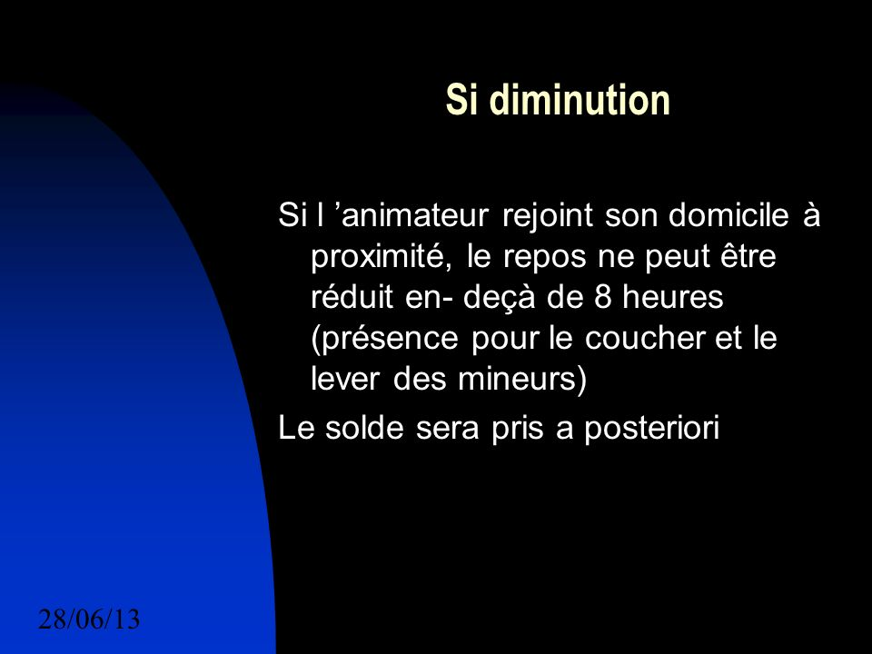 Si diminution