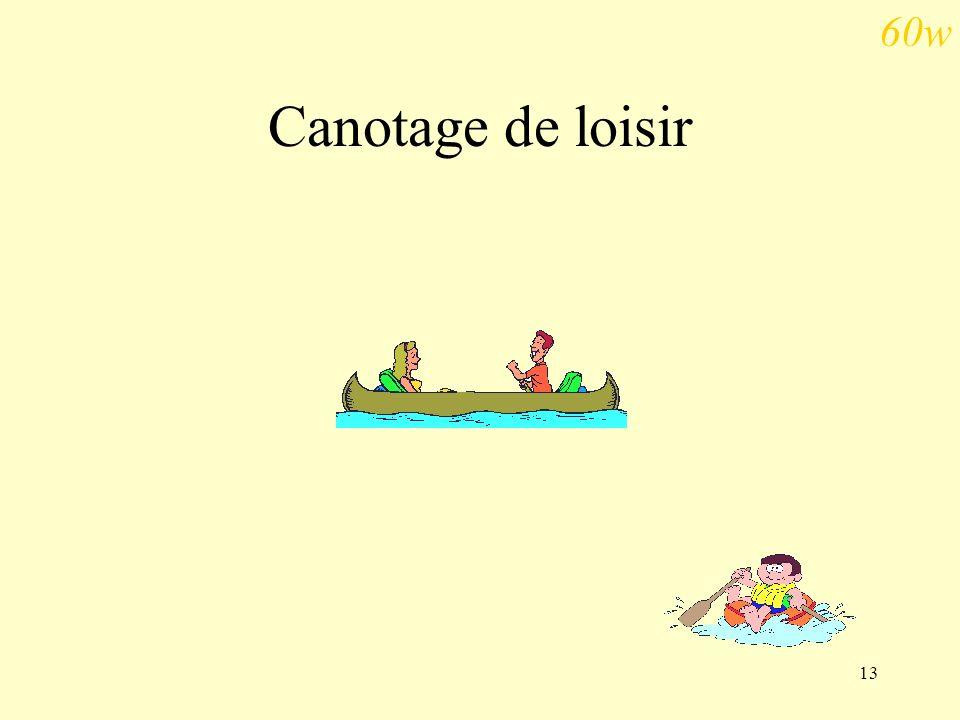 60w Canotage de loisir