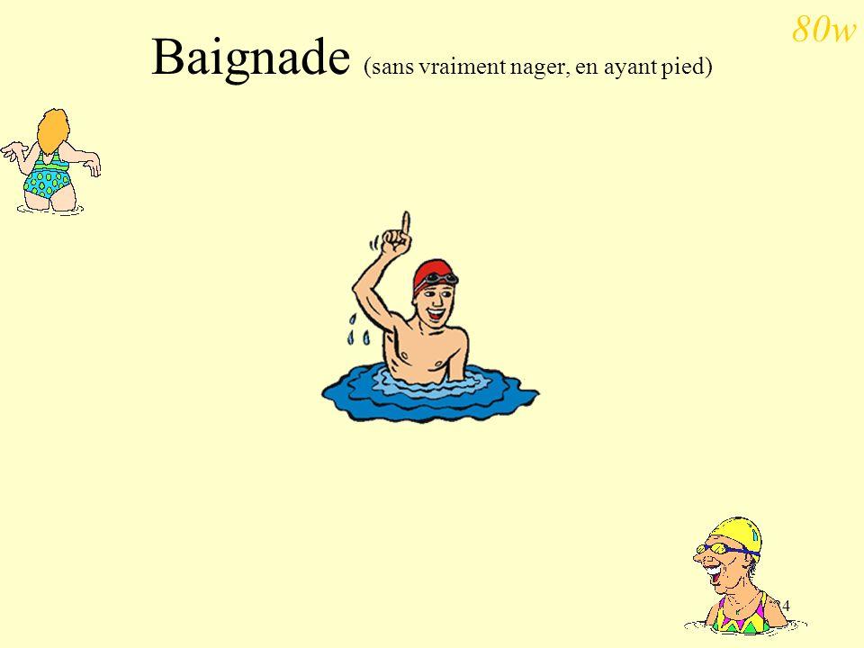 Baignade (sans vraiment nager, en ayant pied)