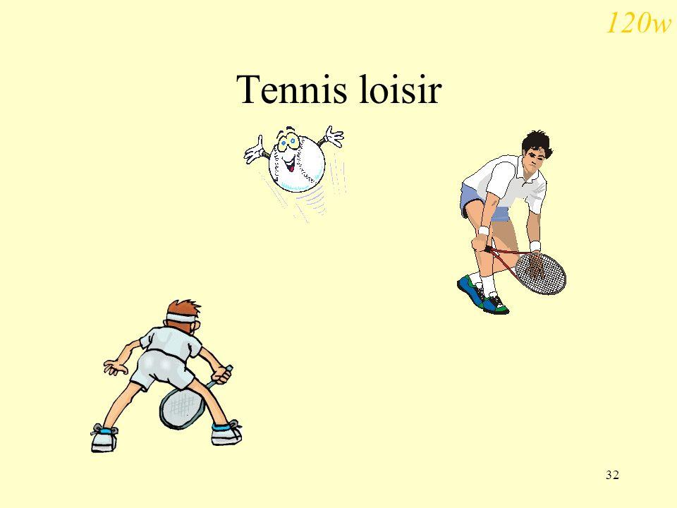 120w Tennis loisir