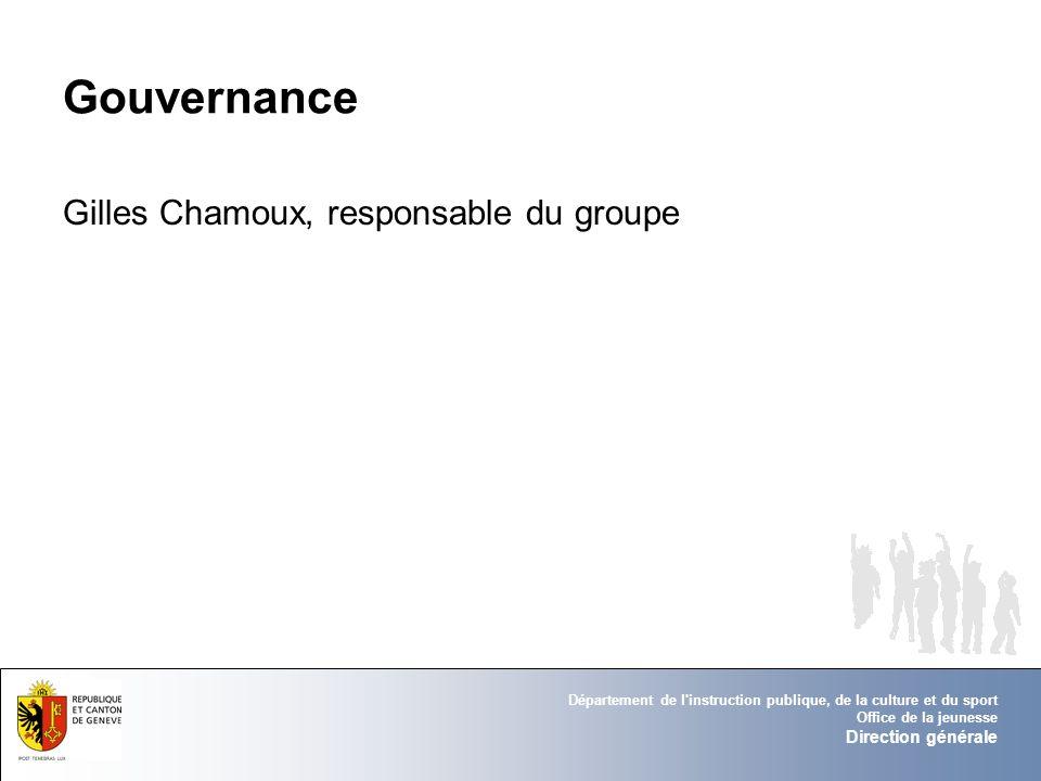 Gouvernance Gilles Chamoux, responsable du groupe