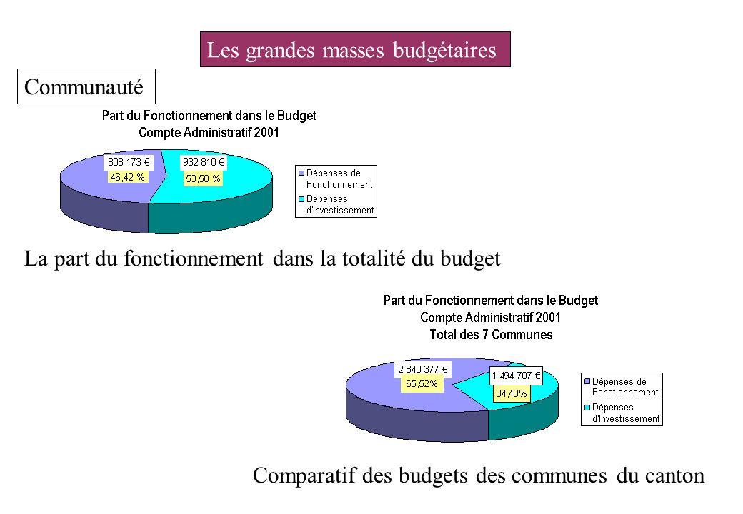 Les grandes masses budgétaires