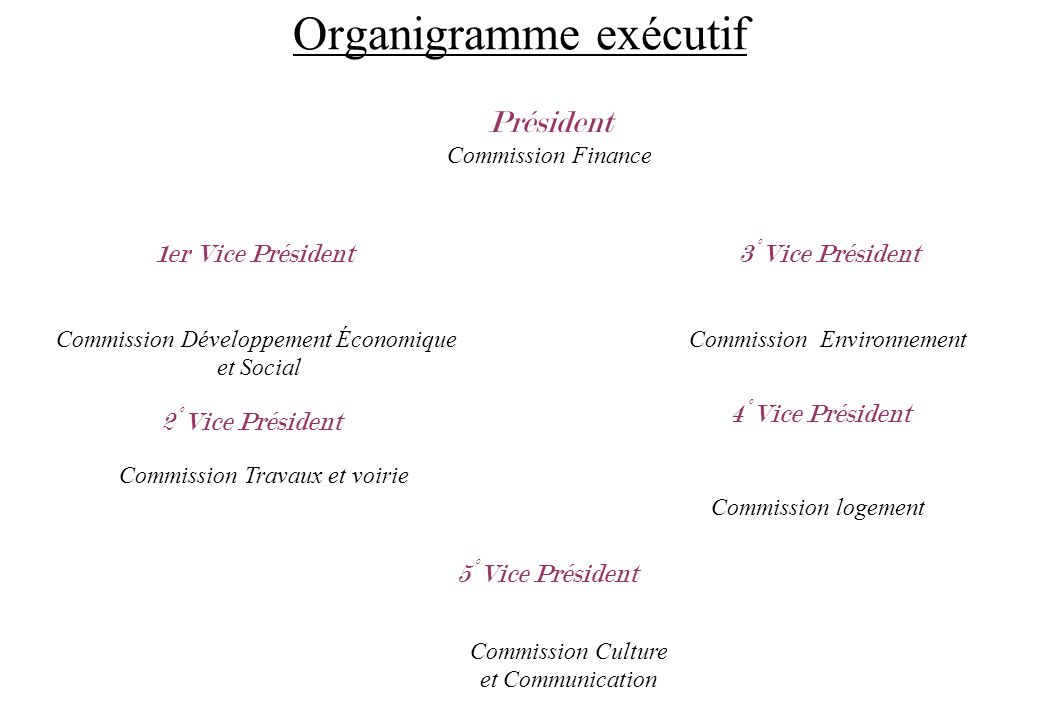 Organigramme exécutif