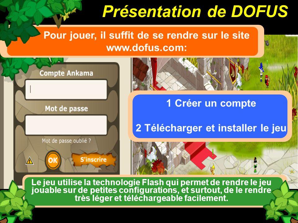 Présentation de DOFUS Pour jouer, il suffit de se rendre sur le site www.dofus.com: 1 Créer un compte.