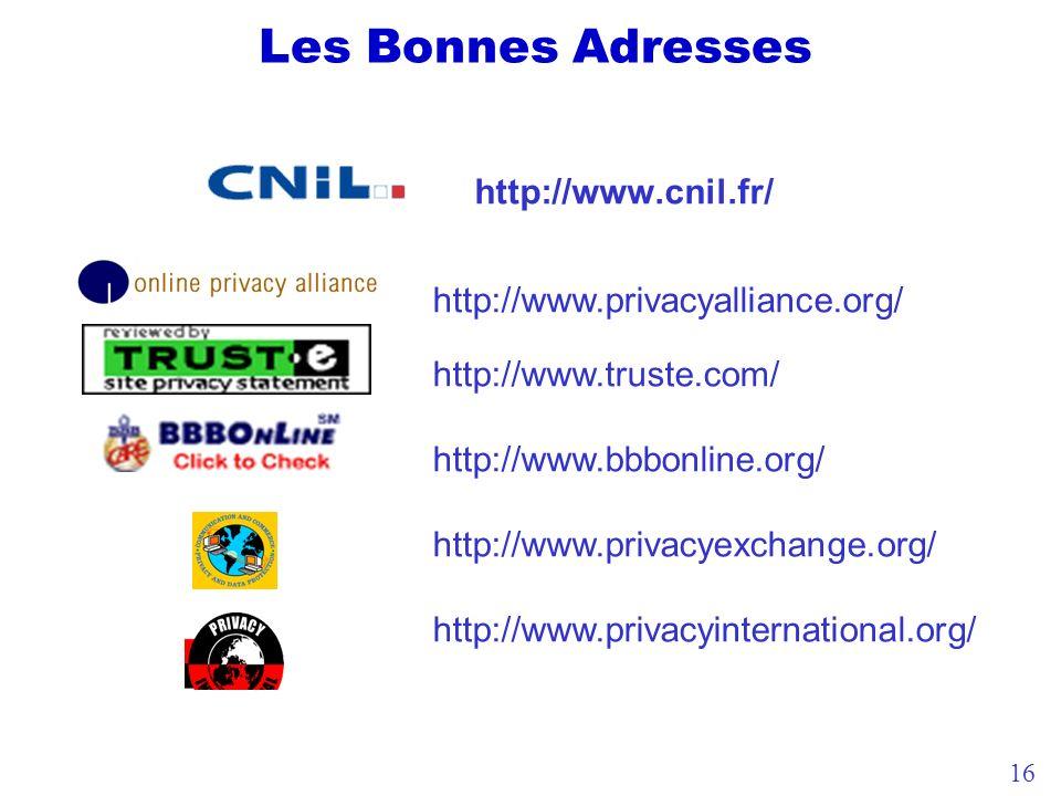 Les Bonnes Adresses http://www.cnil.fr/