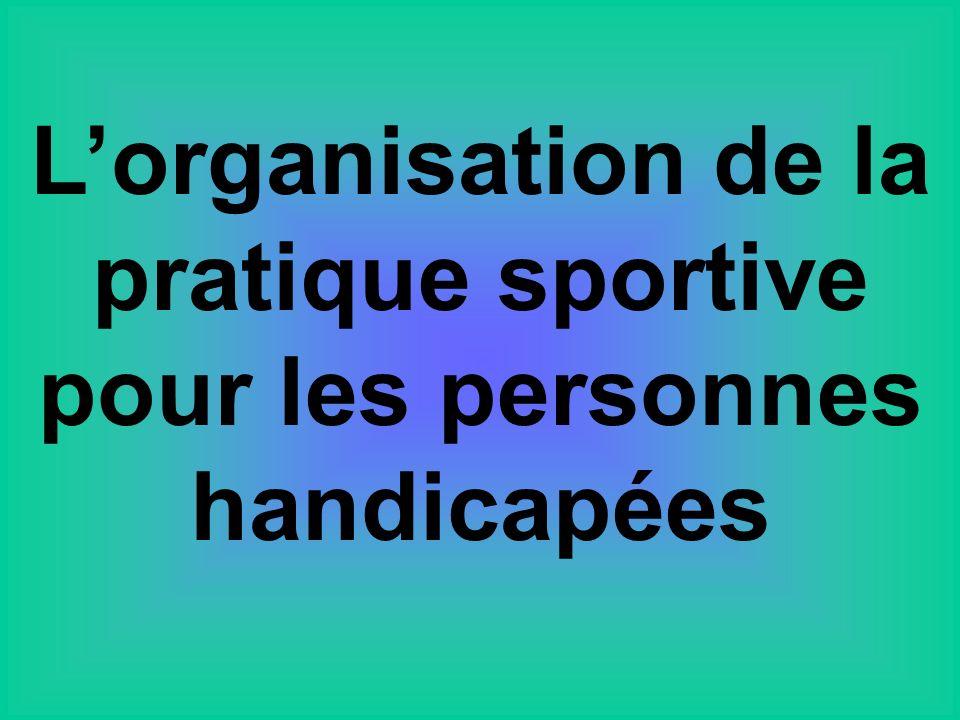 L'organisation de la pratique sportive pour les personnes handicapées