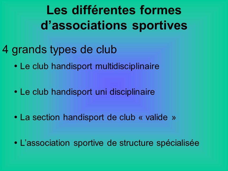 Les différentes formes d'associations sportives