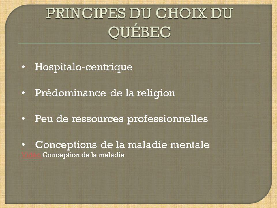 PRINCIPES DU CHOIX DU QUÉBEC